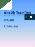 Shipbuilding - Korea Ship Finance Forum