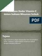 P2 Penetapan Kadar Vitamin C Dalam Sediaan Minuman Serbuk
