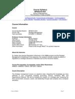 UT Dallas Syllabus for bps6310.0g1.07f taught by Marilyn Kaplan (mkaplan)