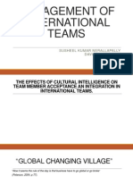 Management of international teams