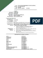 UT Dallas Syllabus for stat4351.501.07f taught by Yuly Koshevnik (yxk055000)
