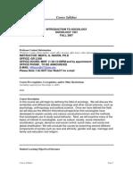 UT Dallas Syllabus for soc1301.001.07f taught by Meryl Nason (mnason)