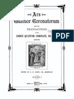 Ars Quatuor Coronatorum Vol 01 1888