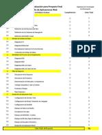 Rubrica de Evaluacion Proyecto Final DAW Mayo-Agosto 2013