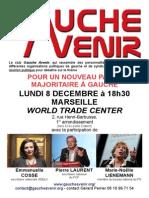 réunion publique de gauche avenir à Marseille le 8 décembre
