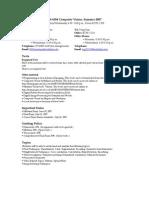 UT Dallas Syllabus for cs6384.581.07u taught by Haim Schweitzer (haim)