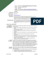 UT Dallas Syllabus for sci5325.0t1.07f taught by Cynthia Ledbetter (ledbeter)