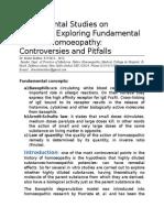 Experimental Studies on Basophils Exploring Fundamental Laws of Homoeopathy Controversies and Pitfalls