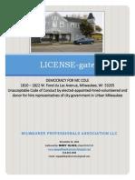 LICENSEgate - City of Milwaukee NEWER