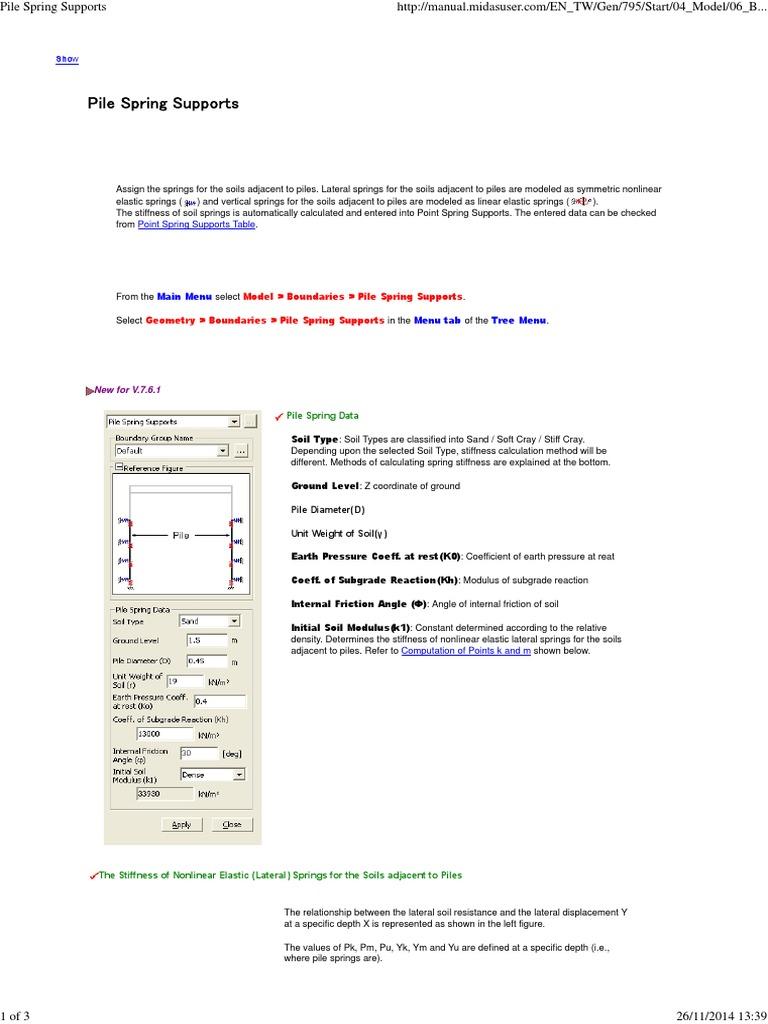 Model > Boundaries > Pile Spring Supports Geometry > Boundaries