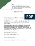 Table Fragmentation