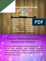 Pengujian Mikrobiologi Sediaan Makanan Dan Minuman