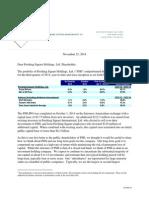 Ackman Pershing Square Holdings Ltd. Q3 Investor Letter Nov 25