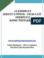 Servet-i̇ Fünun-fecr-i̇ Ati̇ Edebi̇yati Konu Testleri̇-1