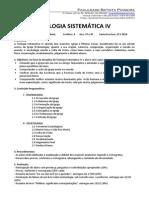 Teologia Sistematica IV - 2014