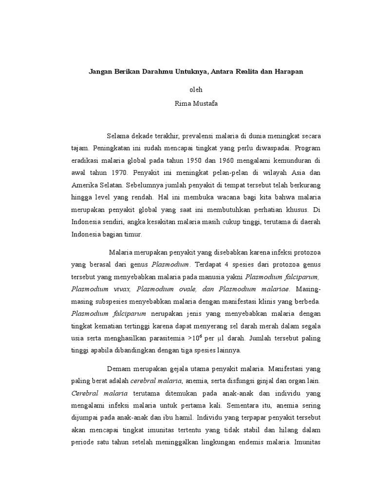 Contoh Essay Ilmiah