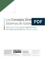 Los Consejos Directivos, Directorios y Otros Sistemas de Gobierno. Guía Práctica para Organizaciones No Gubernamentales de América Latina