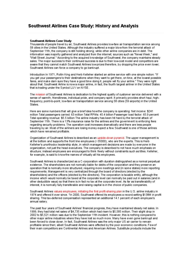 southwest case study analysis
