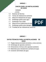 UNIDAD I - Datos Técnicos Para Inst. Agua