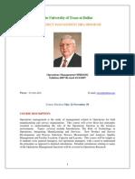 UT Dallas Syllabus for opre6302.pjm.07u taught by James Joiner (jamesj)