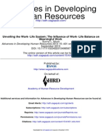 Work-life System the Influence of Work-life Balance
