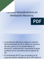 Cambios Hemodinamicos en Ventilacion Mecanica