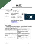 UT Dallas Syllabus for aim6335.521.07u taught by Martin Stewart (mas018410)