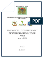 PLAN NATIONAL D'INVESTISSEMENT DU SECTEUR RURAL DU TCHAD PNISR 2014 – 2020