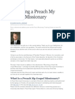 Becoming a Preach My Gospel Missionary