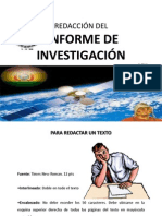 Presentacion de Informes