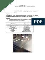 Práctica #8 | Óxidos Metálicos