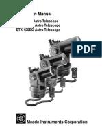 Meade ETX EC 90 Manual