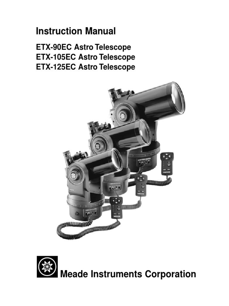 Instruction Manual: ETX-90EC Astro Telescope ETX-105EC