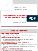 Reform of Labour Legislation in the Republic of Croatia