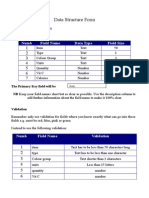 data structure form
