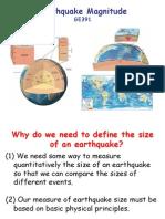 3 GE391 Earthquake Magnitude