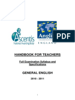 Handbook for Teachers General English2010LA