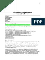 SLP Report