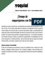 Hoja Parroquial 2014-11-16 No.46
