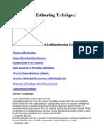 Construction Estimating Techniques