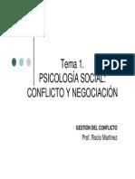 Gestion del Conflicto Tema 1