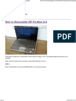 How to Disassemble HP Pavilion Dv4 __ Inside My Laptop
