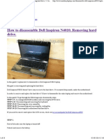 How to Disassemble Dell Inspiron N4010. Removing Hard Drive. __ Inside My Laptop