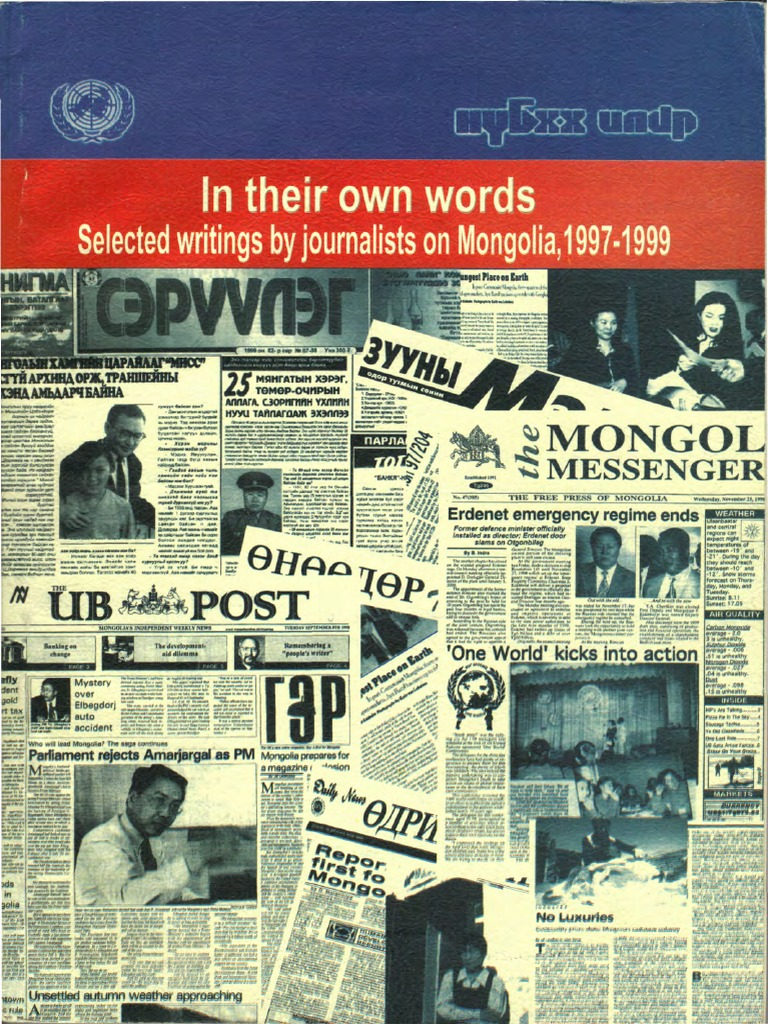 Of mongolia today tomorrow and the development bank of mongolia s - In Their Own Words Selected Writings By Journalists On Mongolia 1997 1999 Mongolia Malnutrition