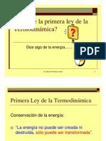 Primera Ley Termodinamica para sistemas cerrados
