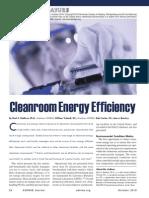 Cleanroom Energy Efficiency