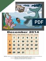 coloring page 3d calendar