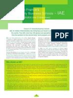 IAE France introduction