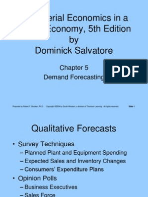 Demand Forecasting PPT   Input–Output Model   Forecasting