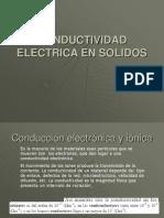 Conductividad Electrica en Solidos
